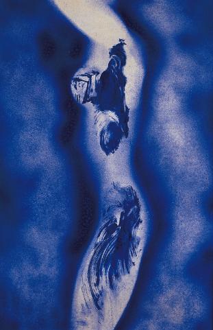 Синий цвет кляйна картины