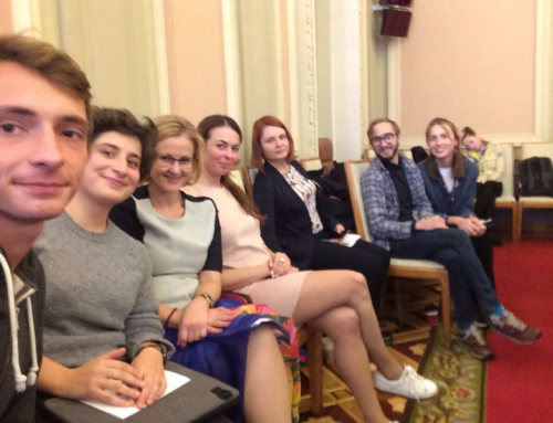 Teenergizer activists at Parliamentary Youth Committee meeting